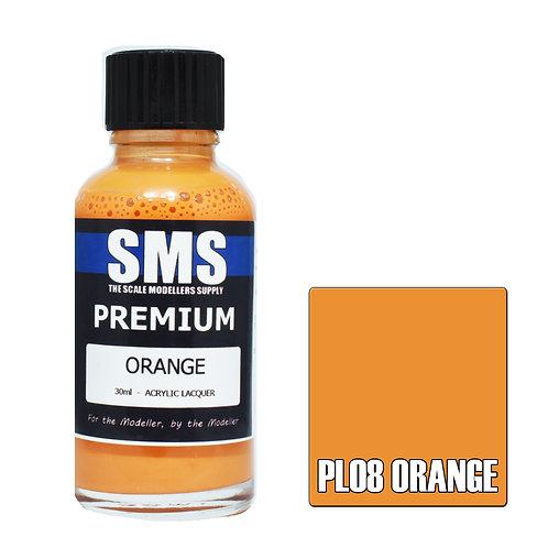 SMS Acrylic Lacquer Premium Orange 30ml SMS-PL08