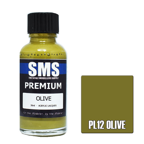 SMS Acrylic Lacquer Premium Olive 30ml SMS-PL12