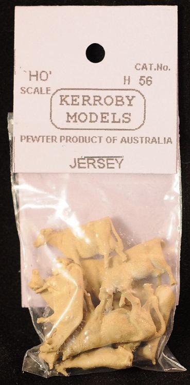 10 x Jersey Cows HO Kerroby Models KM-H56