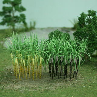 "Sugarcane Plants 1-3/8"", Tall HO-scale, Purple-Yellow, 32/pk MP Scenery"
