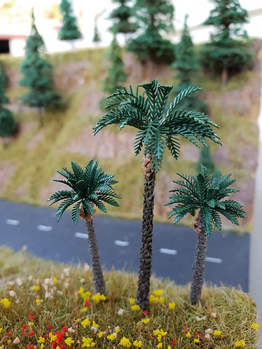 Palm Tree 80mm & 55mm brass
