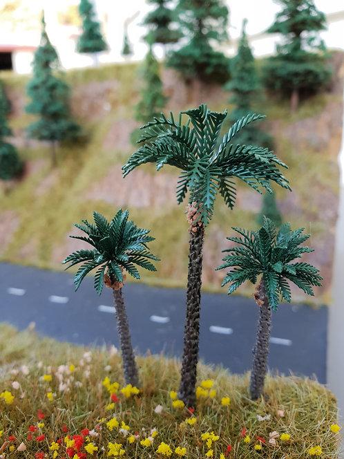 Palm Tree 80mm & 55mm brass Ground Up Scenery