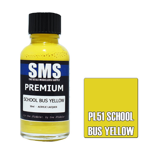 SMS Acrylic Lacquer Premium School Bus Yellow 30ml SMS-PL51