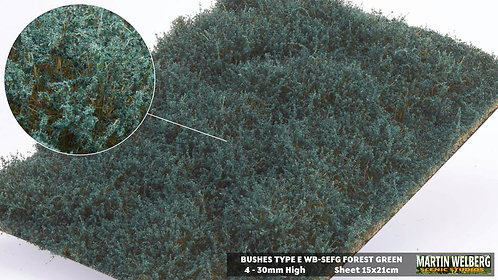 Bushes type E Forest Green Martin Welberg