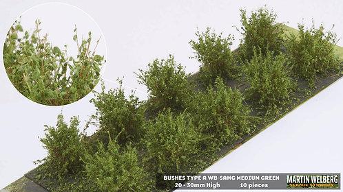 Bushes type A medium green Martin Welberg