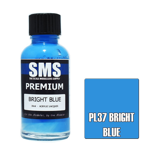 SMS Acrylic Lacquer Premium Bright Blue 30ml SMS-PL37