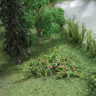 "Raspberries Plants  1"", Tall O-scale, 8/pk MP Scenery"