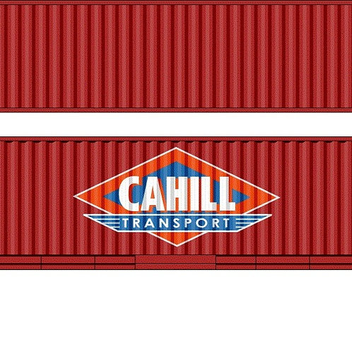 """2 x HO Scale 48"""" Containers Cahill Southern Rail Models 48D19"""