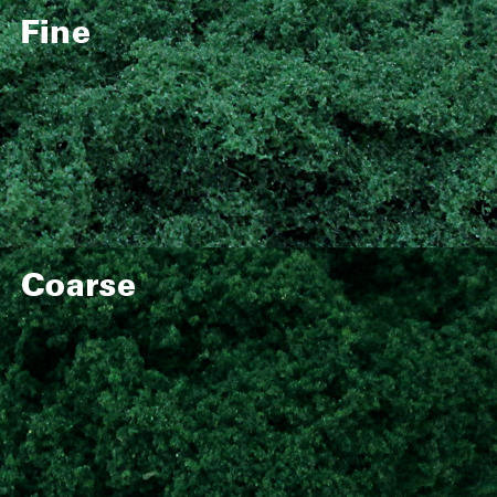 Dark Green Clump Foliage - Fine, pack of 150 Sq. In. MP Scenery