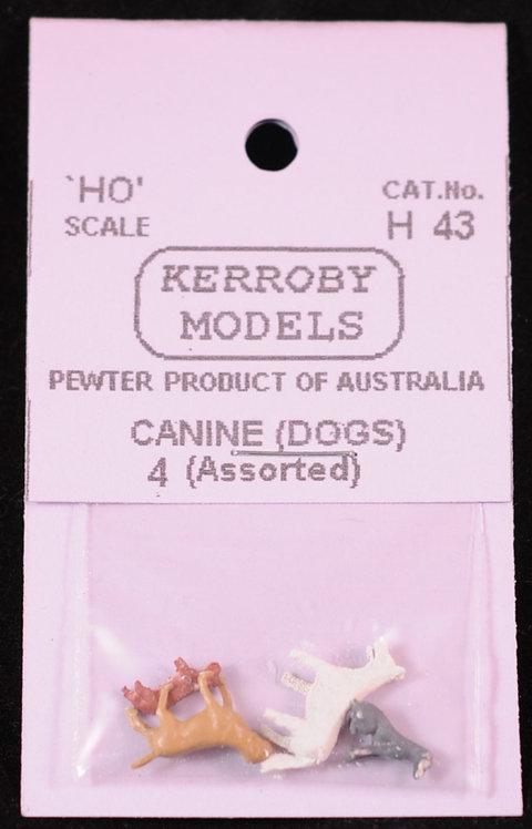 4 x Dogs HO Kerroby Models KM-H43