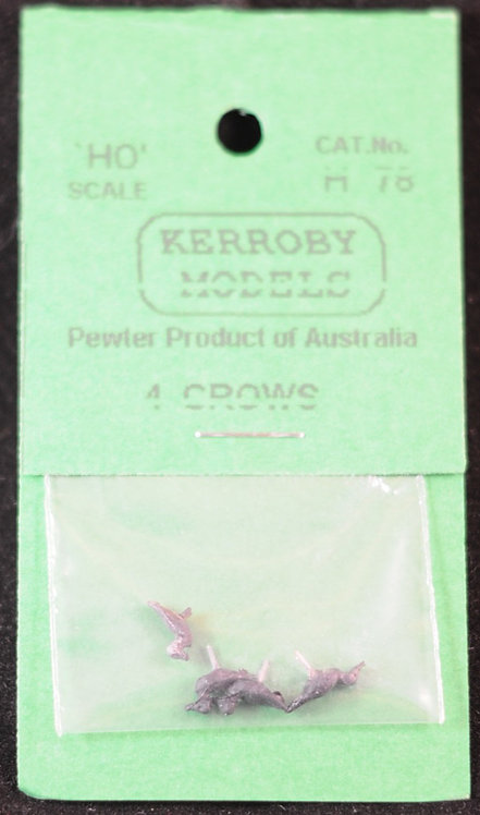 4 x Crows HO Kerroby Models KM-H78