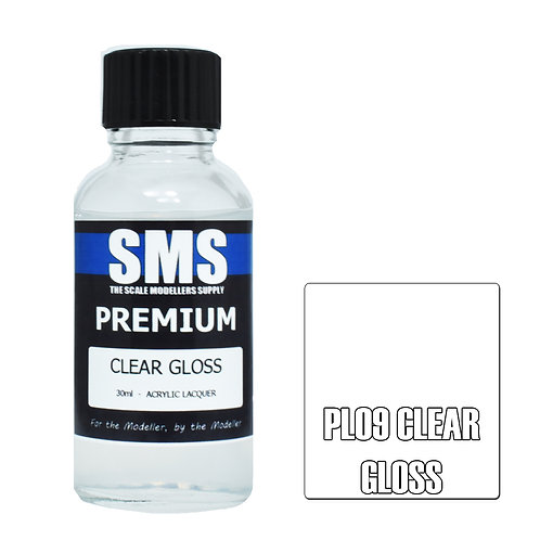 SMS Acrylic Lacquer Premium Clear Gloss 30ml SMS-PL09