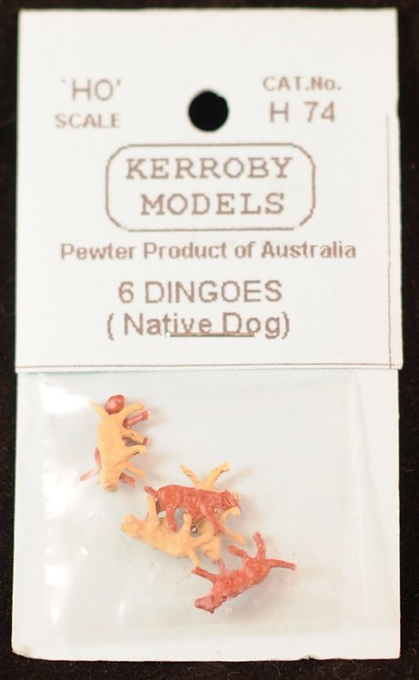 6 x Dingos  HO Kerroby Models KM-H74