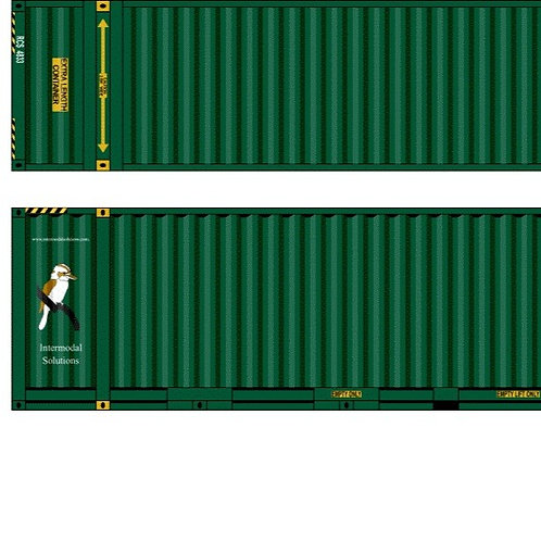 """2 x HO Scale 48"""" Containers Intermodal Solutions Southern Rail Models 48D27"""