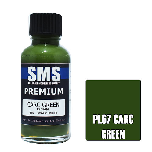 SMS Acrylic Lacquer Premium Carc Green 30ml SMS-PL67