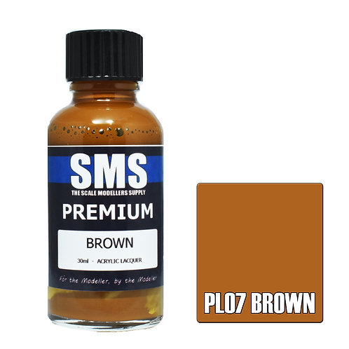 SMS Acrylic Lacquer Premium Brown 30ml SMS-PL07