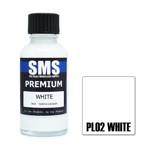 SMS Acrylic Lacquer Premium White 30ml SMS-PL02