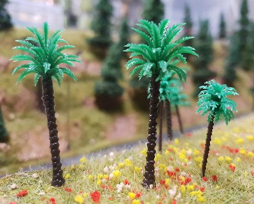 Palm Tree 30mm Plastic 10pk Ground Up Scenery