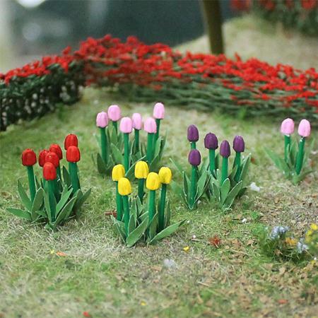 """Tulips 1"""", Tall O-scale, 44/pk MP Scenery"""