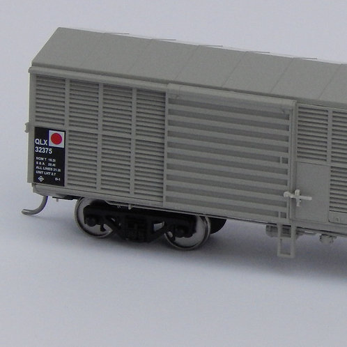HOn3.5 Queensland Rail QRX Louvre  Wagon Set 2 Wuiske Models (3 Pack)