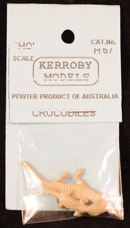 2 x Crocodiles HO Kerroby Models KM-H57