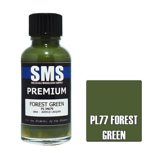 SMS Acrylic Lacquer Premium Forest Green 30ml SMS-PL77
