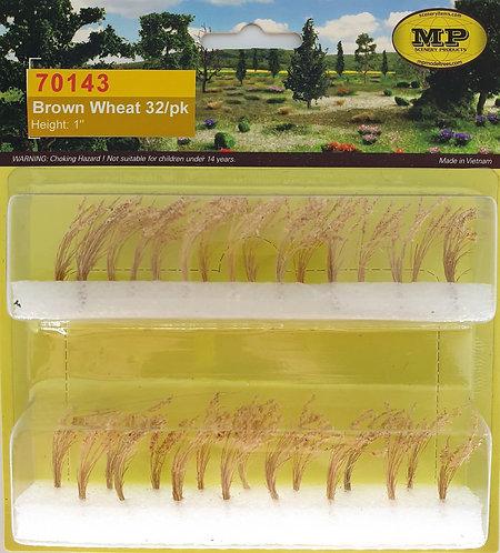 "Brown Wheat 1"" Tall HO-Scale 32pk"
