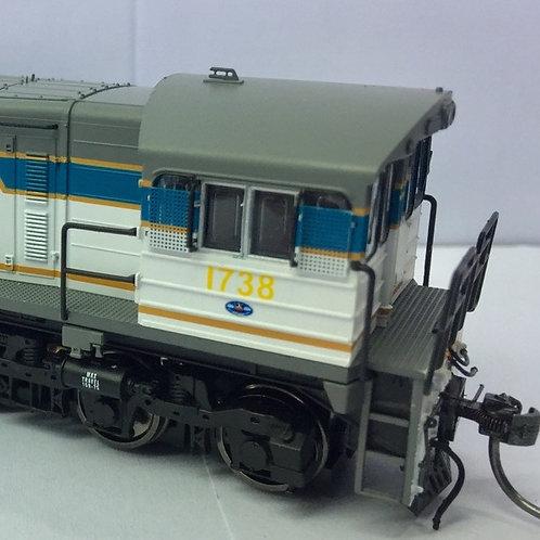 HOn3.5 Queensland Rail 1720 Class locomotive # 1738 Wuiske Models