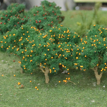 "Orange Tree 2"" to 2-1/2"", HO scale, 6/pk MP Scenery"