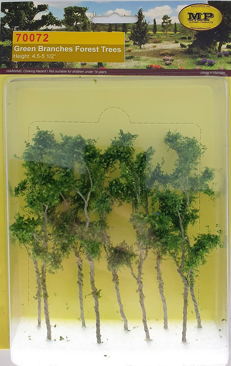 """Green Branches Forrest Trees, 9pk 4.5""""-5.5"""" Tall"""
