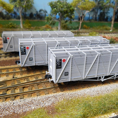 HOn3.5 Queensland Rail KSA Cattle Wagons Set 3 Wuiske Models (3 Pack)