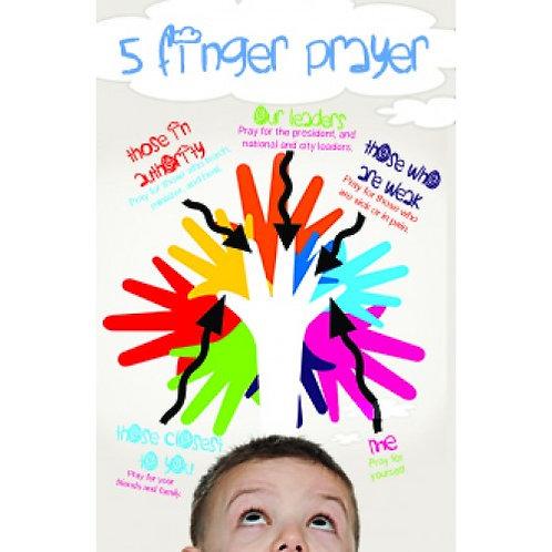 5 Finger Prayer Poster
