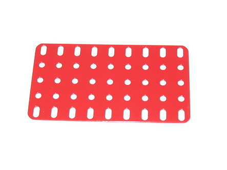 Flat Plate 5 x 9 holes Meccano Red