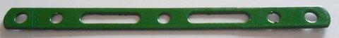 Narrow Slotted strip 5 holes + 2 slots