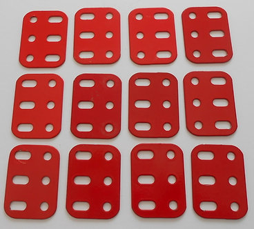 3 hole Flat Girders in red (12)