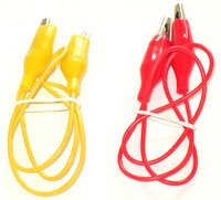 Pair of Insulated leads with Crocodile clips