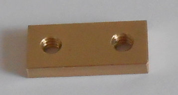 Meccano threaded Brass strip 2 hole