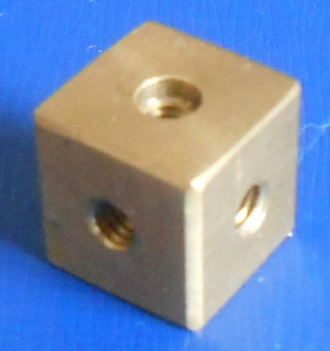 Construction Cube (brass)