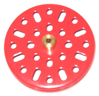"""2.5"""" Flanged Pulley with boss Meccano red"""