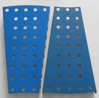 Blue flanged sector plates