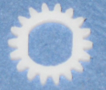 18 tooth Delrin Gear Disc