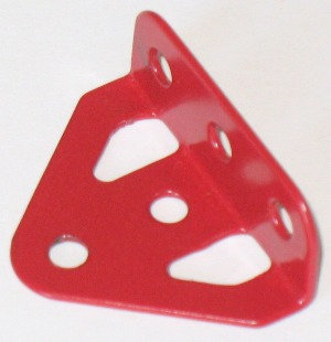 Flanged Trunnion 5 hole in Meccano Red