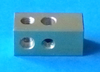 """3/8"""" Square 3 hole threaded Coupling"""