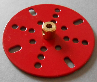 "2.5"" Face Plated in Meccano red"