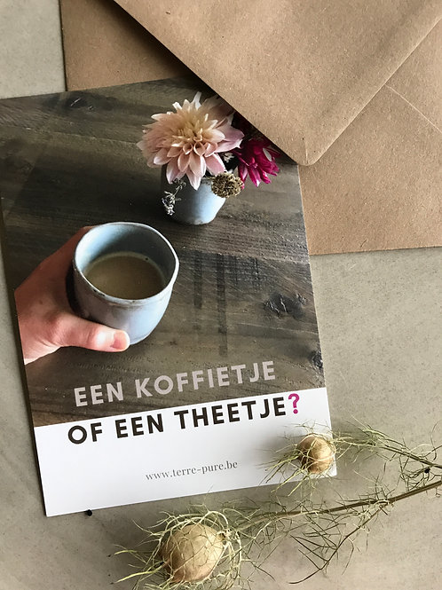 Kaart koffie of thee