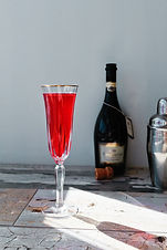 A fun, fizzy riff on a classic Negroni