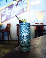 Chartreuse and tiki shouldn't go together but they do