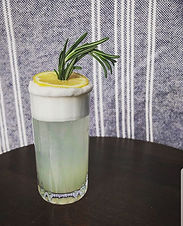Adding rosemary and honey to the classic Gin Fizz