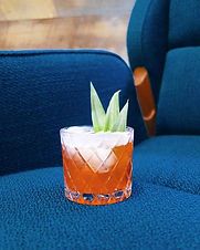 The classic red tiki drink