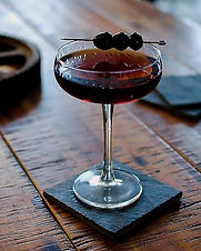 This is a slightly more bitter and full-bodied riff on the Manhattan